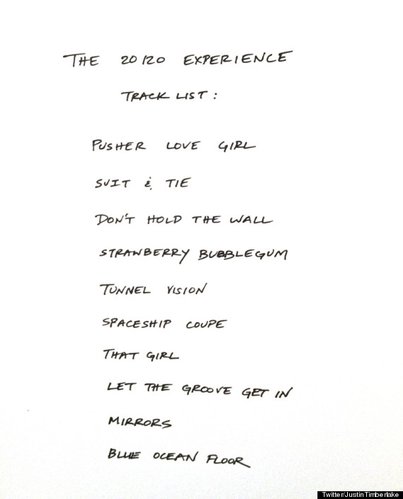 20 20 Experience - Track List