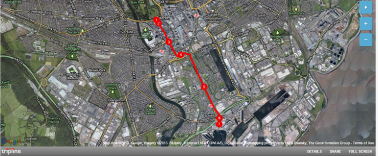 Cardiff City Parade Route Map - 5th May 2013