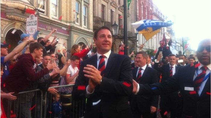 Manager Malky - 5th May 2013 - Cardiff Celebrations