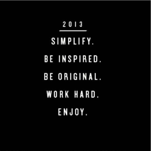 Inspiration in 2013