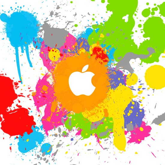 Apple - colorful