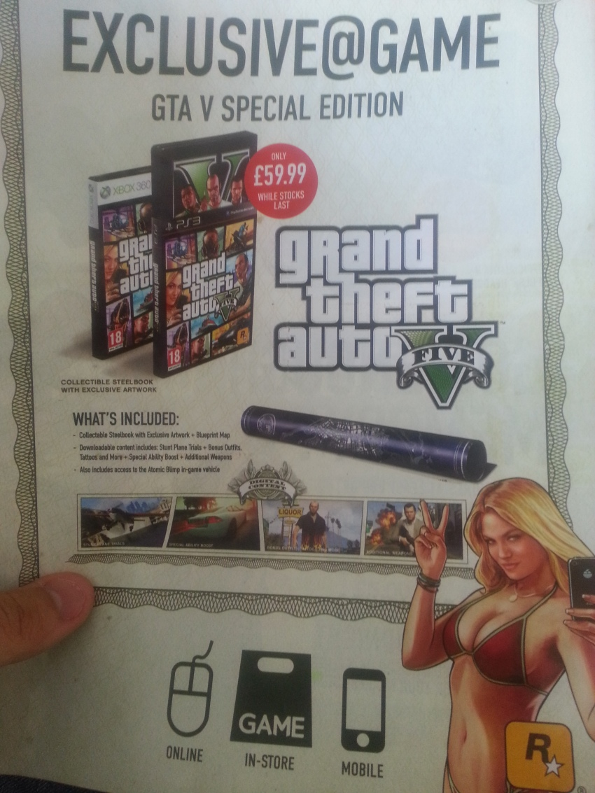 Game Special Edition Offer GTA V