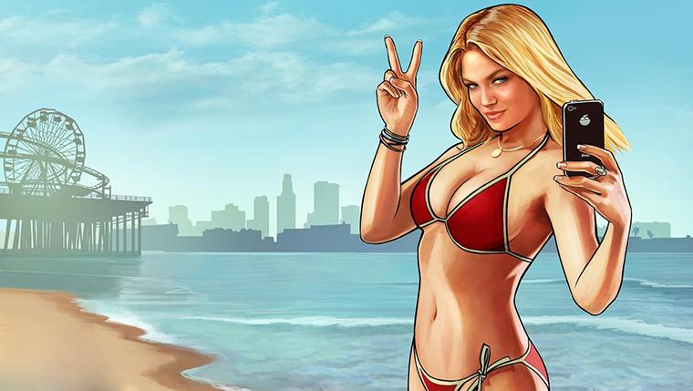 GTA V Los Santos Beach Artwork